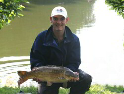 Glen Burden lands a carp