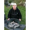 Jim Randel Silver Fish Match 6 11 07 2nd place with 20lb 7ozs from peg 5  Photo by Roger Harris www photoaction co uk