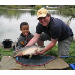 Che and Coach Daniel Brydon with his 6-7lb Carp