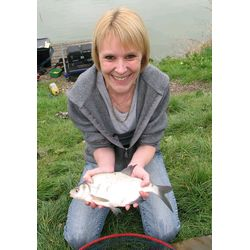 Karen with a skimmer Bream